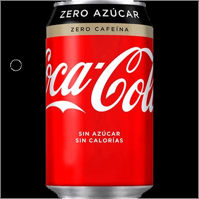 Lata Coca Cola Zero Zero